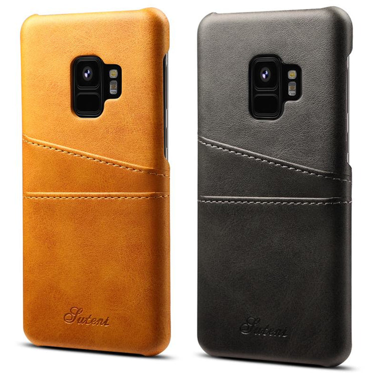 Samsung Galaxy S9/S9 Plus Leather Slim Case