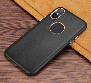 iPhone 7 Plus Genuine Leather Slim Hard Back Case