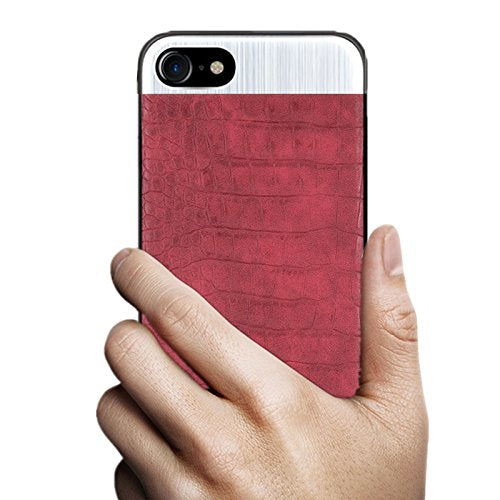 Slim Leather Metal Case for iPhone 8 Plus - TekGQ