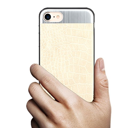 iPhone 6/6s Slim PU Leather Metal Case
