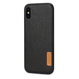Protective Hard Back iPhone X Leather Case - TekGQ