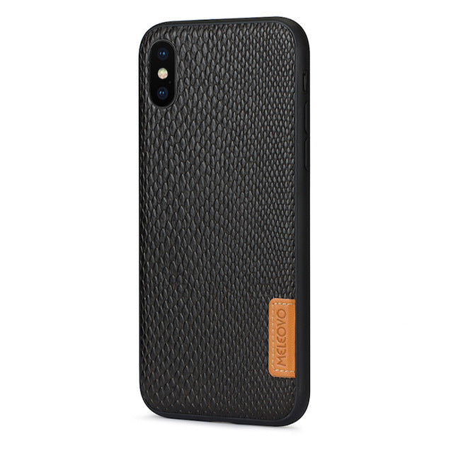 Protective Hard Back iPhone X Leather Case