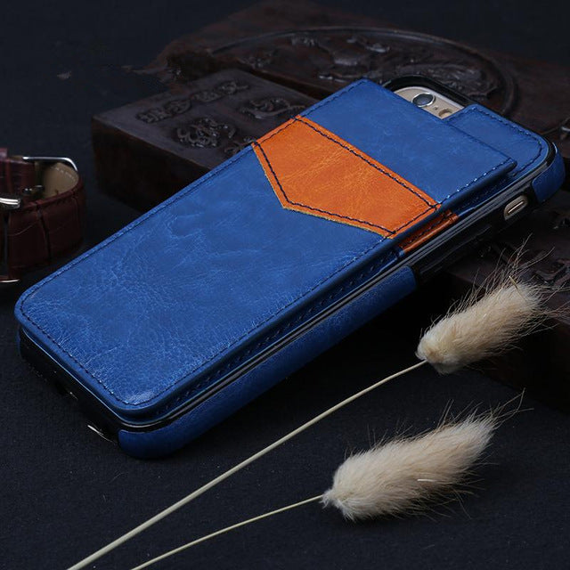 Leather Wallet iPhone 7 Plus Slim Case