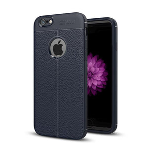 Vintage Leather Back Case For Iphone 6 6S Plus Navy / & Screen Protector Tekgq