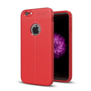 Vintage Leather Back Case For Iphone 6 6S Plus Red / & Screen Protector Tekgq