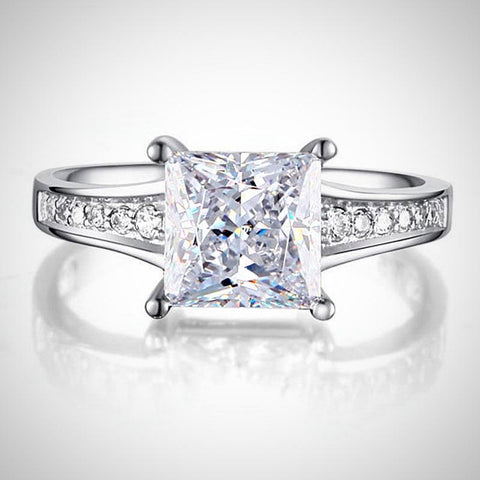 Princes Cut Classic Style Engagement Ring