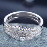 Sterling Silver 3 pc Wedding Bands