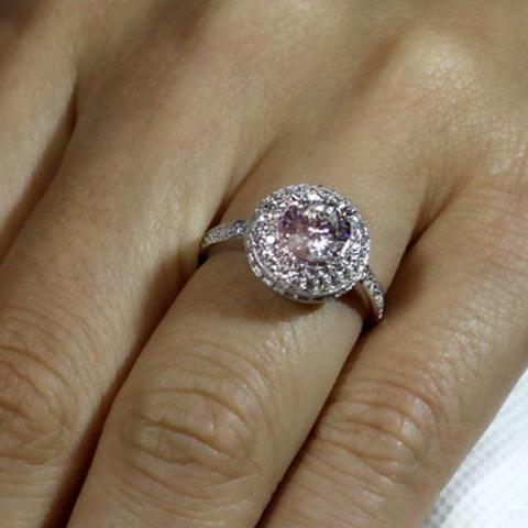 Classic engagement ring Cubic zirconia Solid Sterling Silver 1 ct