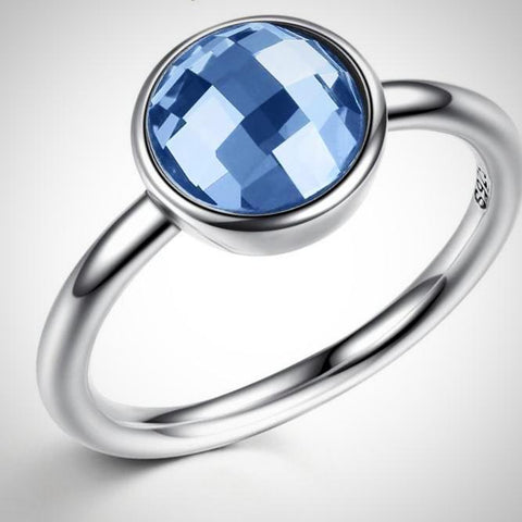 Blue Stone Sterling Silver Ring