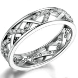 wedding ring, for women, sterling silver - Staceybo Jewelry