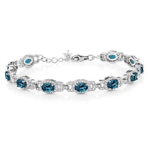 London Blue Topaz Sterling Silver Bracelet