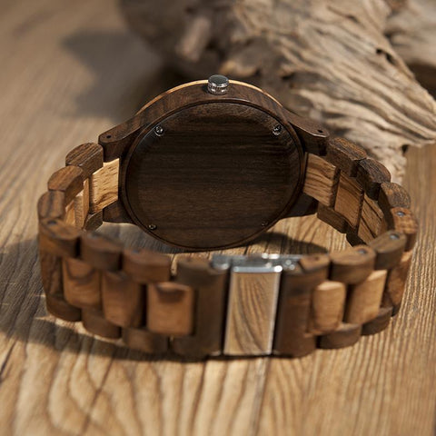 Designer Mens Wood Watch