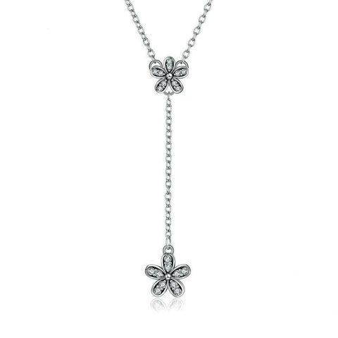 Sterling Silver Daisy Love Pendant Necklace