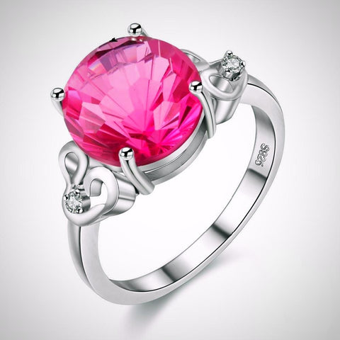 Sterling Silver Pink Topaz Ring
