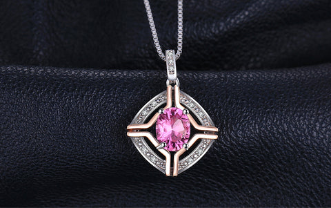 Pink Topaz Ring, Vintage, 4ct Pendant, Necklace, Earrings, Ring, Jewelry Set