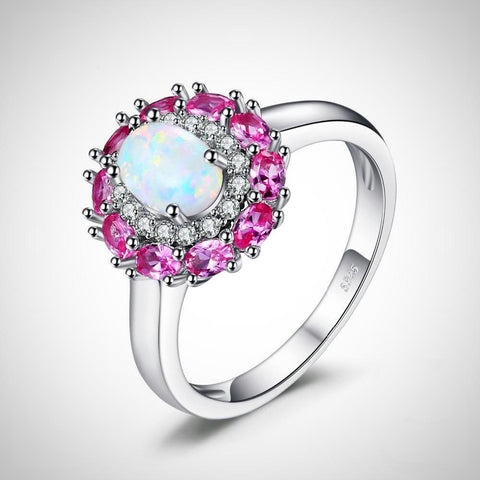 Opal Cluster Halo Ring