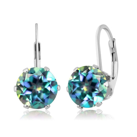 Blue Mystic Topaz Drop Earrings