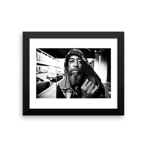 """Mr. Cowboy"" - Framed photo paper poster"