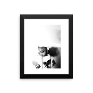 """Black Rose"" - Framed photo paper poster"