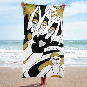 Mermaids (Gold) - Sublimation Towel