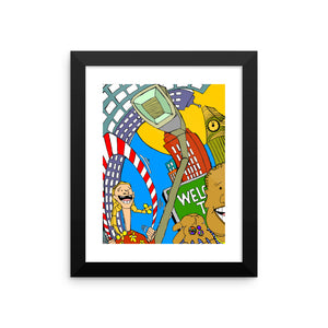 """Sugar Surreal"" - Framed photo paper poster"