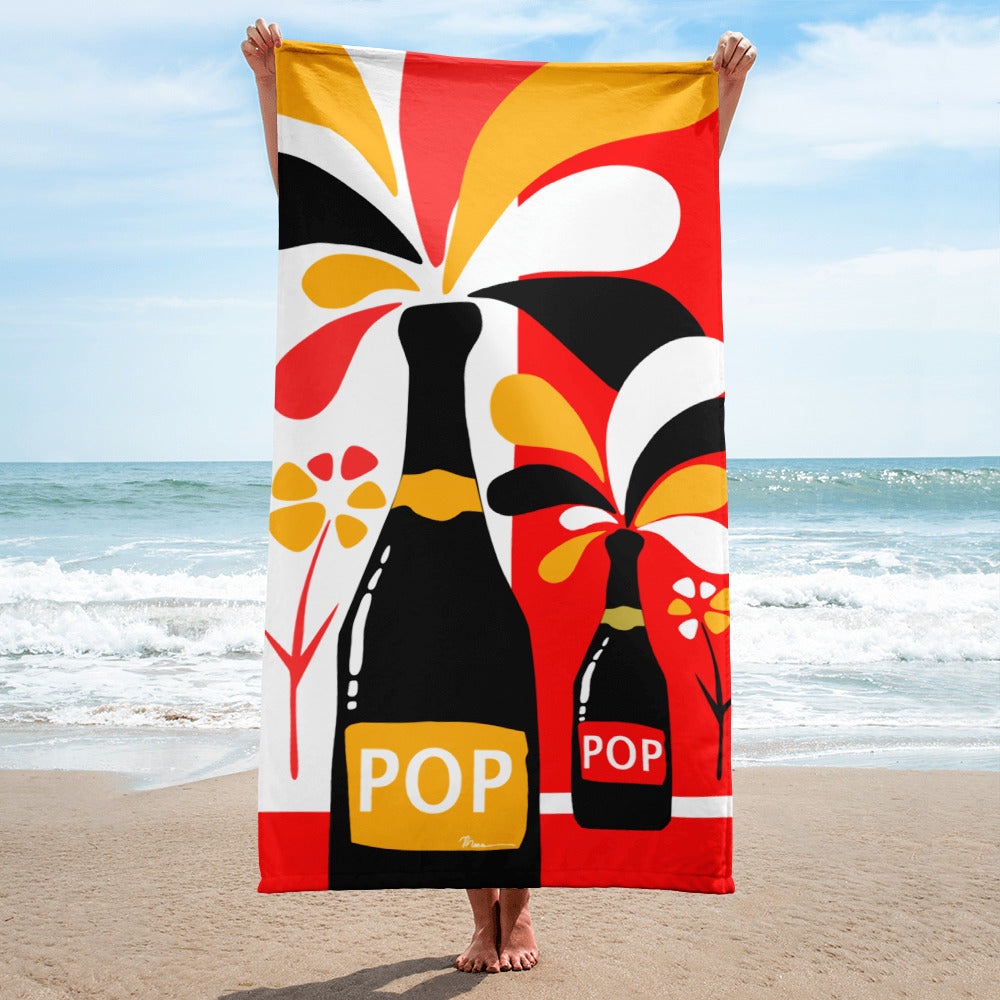 Champagne Poppy - Sublimation Towel