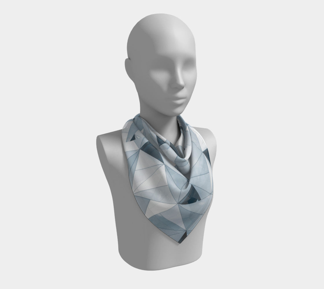 Glass Shard Silk Scarf (Square) USE
