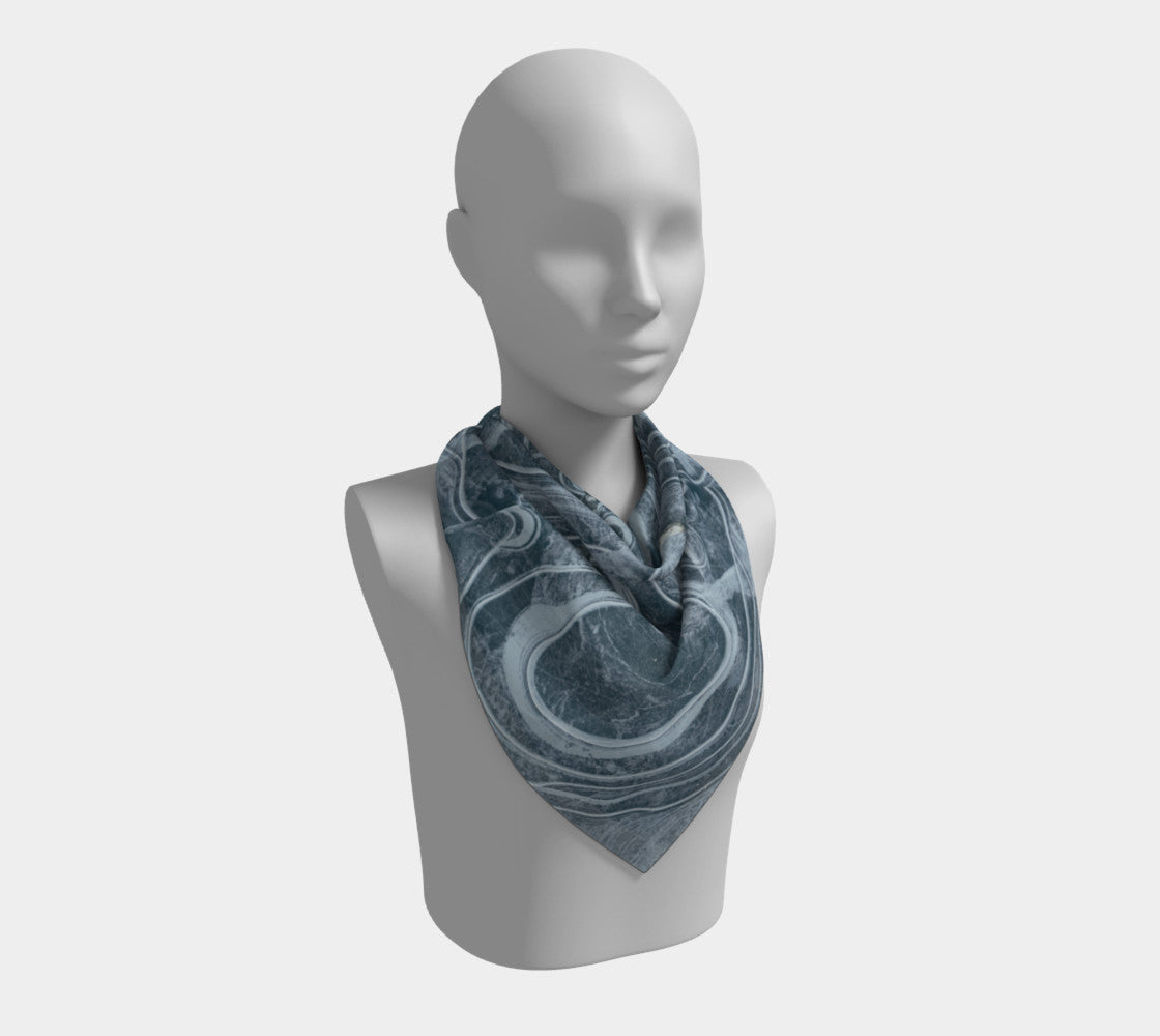 Marble Swirl Silk Scarf (Square) USE