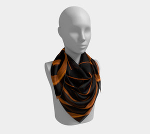 Golden Arc Silk Scarf (Square)