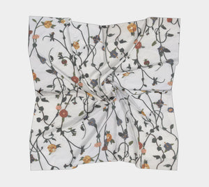 Sweet Vine Silk Scarf (Square)