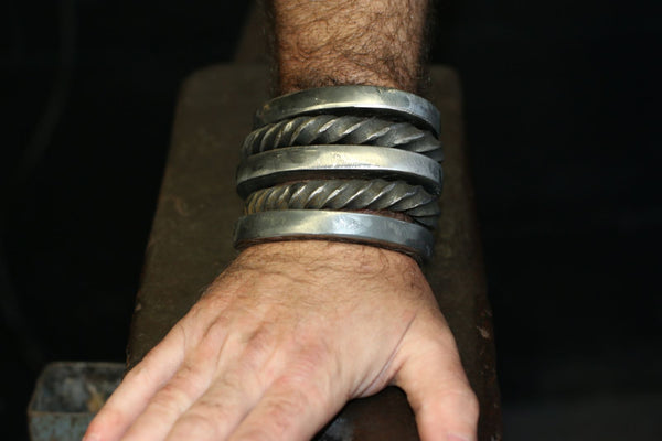 Stack of five permanent cuffs