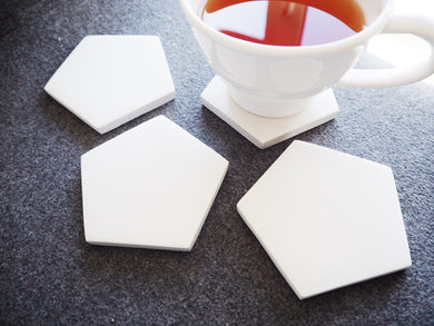 Concrete Coasters - Raw White