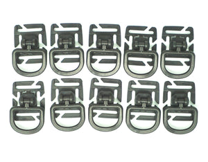 (10) Adjustable D-Rings