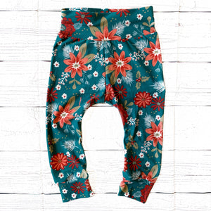 Holiday Floral Leggings
