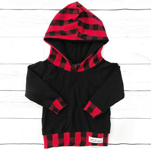 Red & Black Buffalo Plaid Hoodie