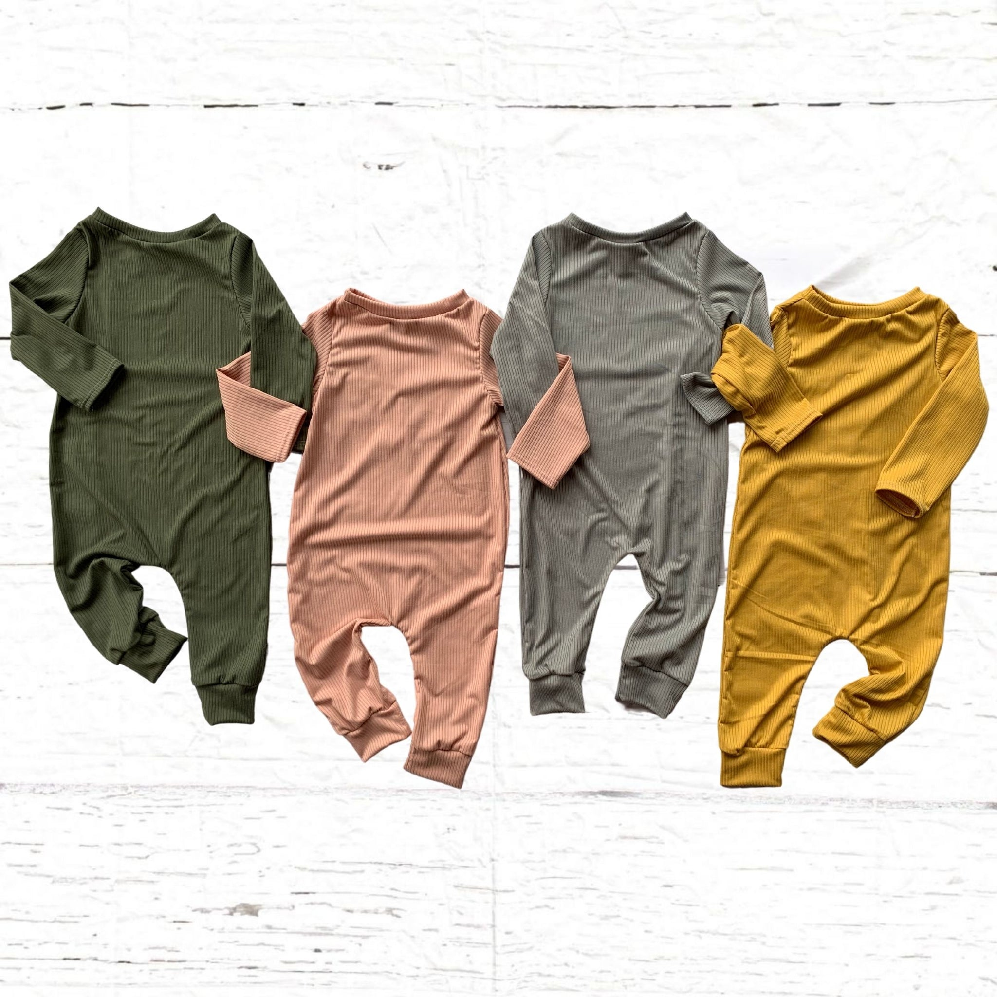 Ribbed Knit Rompers (Multiple color options)