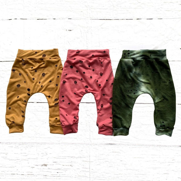 Distressed French Terry Joggers (multiple colors available)