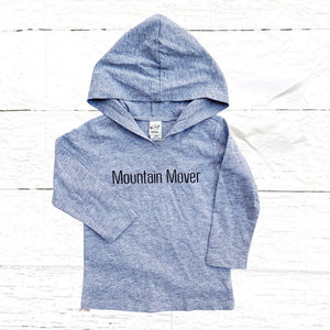 """Mountain Mover"" long sleeve hooded tee"