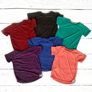 Heathered Everyday Staple Tee (multiple color options available)