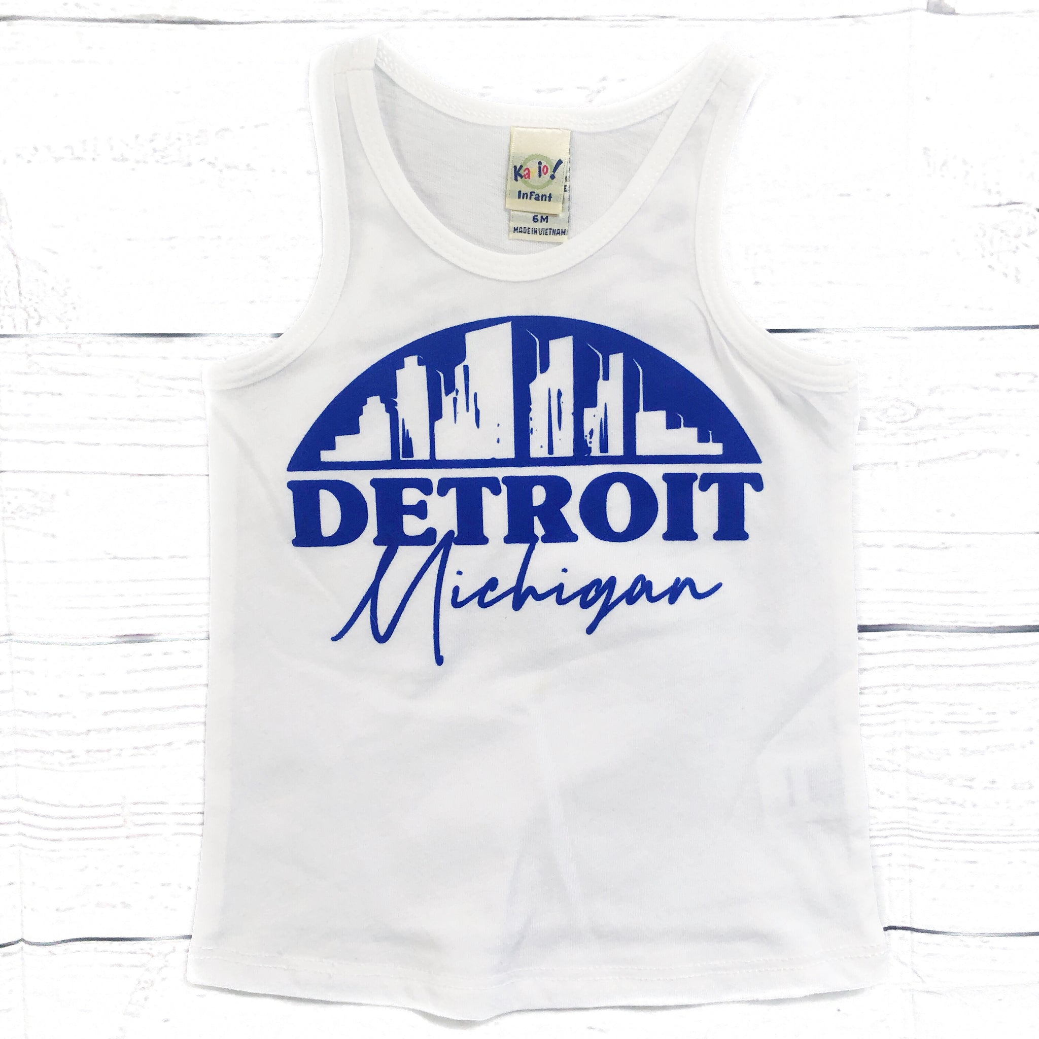 Detroit Skyline tank top