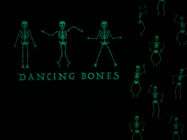 GLOW IN THE DARK Dancing Bones Skeleton Tee