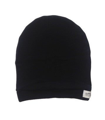 Solid black slouchy hat