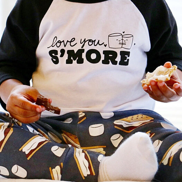"""Love You S'more"" baseball style tee"