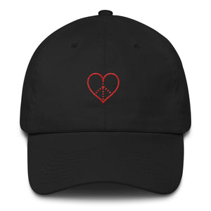 Peace + Love Dad Hat (Black)