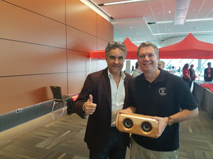 Dragons Den Bruce Croxon gives thumbs up for  Riverwood Acoustics