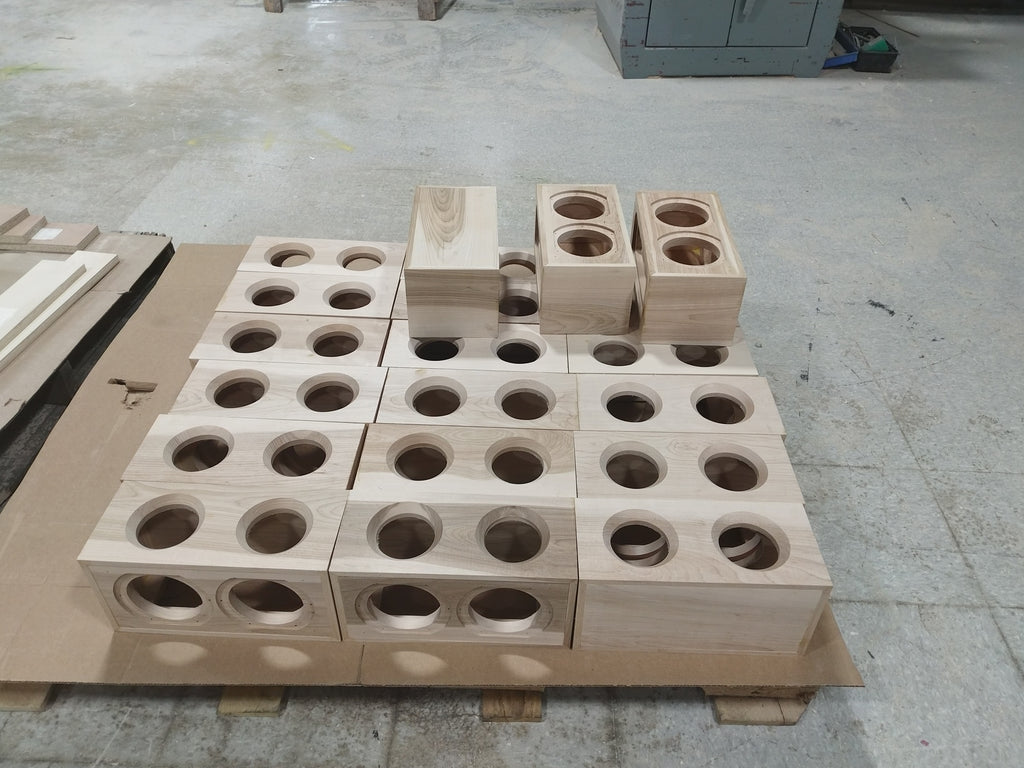 Unfinished boxes