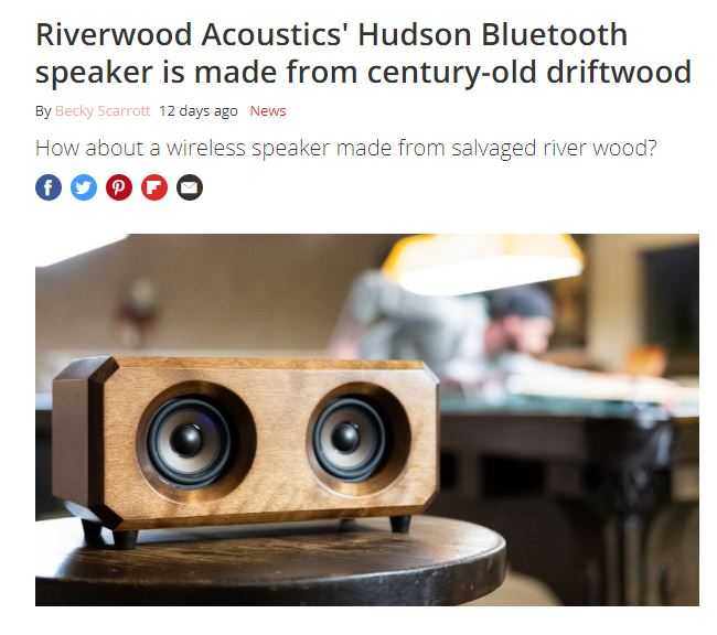 What HiFi Magazine Wooden Bluetooth Speaker Riverwood