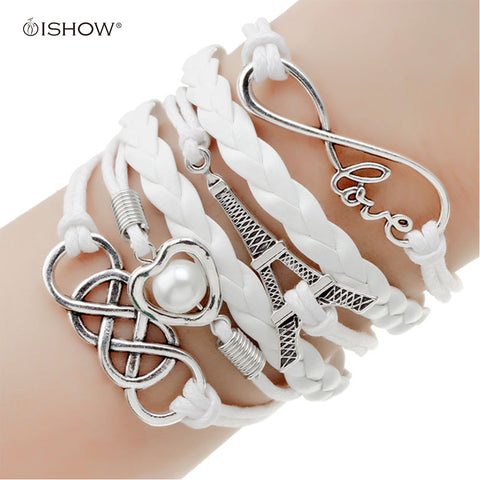 Wrap Leather Charm bracelet for women