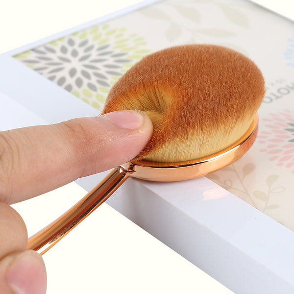 Professional Oval Makeup Brush Set ROSE GOLD - 10 Pieces - Unicorn Makeup Brush