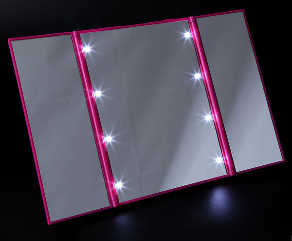 Portable Folding LED Makeup Mirror - Unicorn Makeup Brush